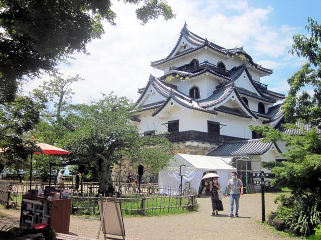 小ぶりながら華麗な彦根城の天守閣=滋賀県彦根市