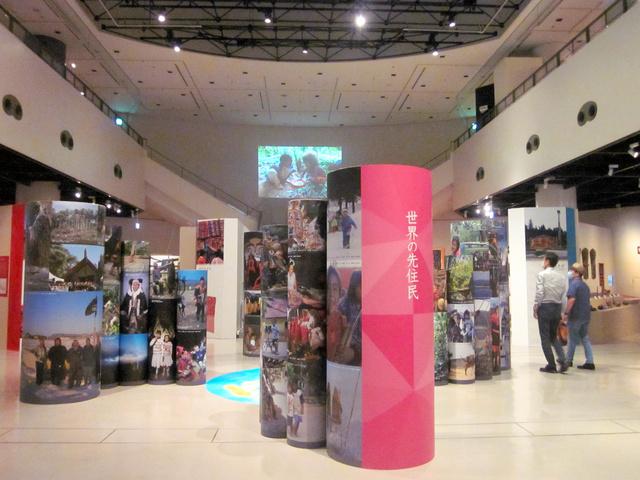 特別展「先住民の宝」の会場=大阪府吹田市の「みんぱく」