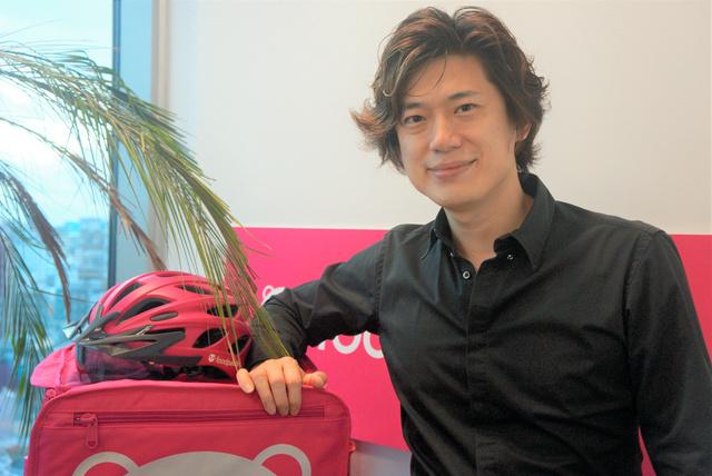 デリバリーヒーロージャパンのエリック・ウェイCEO=東京・六本木、藤えりか撮影