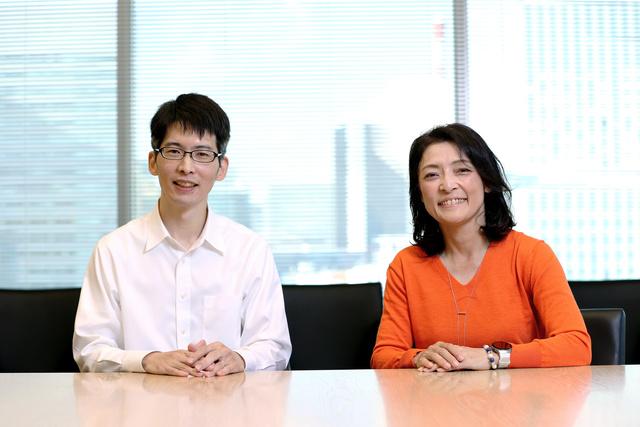 経済評論家の勝間和代さん(右)と医師の大脇幸志郎さん=2020年11月19日、東京・築地、関田航撮影