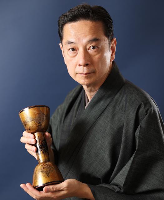 大倉源次郎さん=2020年12月8日、福岡市博多区、関田航撮影