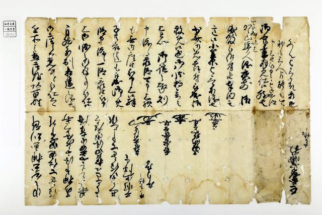 細川忠興が妻・ガラシャに殉じた家臣の息子の追放を命じたと記された文書=熊本大付属図書館所蔵、同大提供