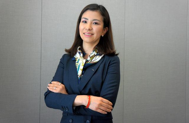 日本IBMデジタルサービス社長と日本IBM執行役員に就任した井上裕美さん=東京都内の同社、藤えりか撮影