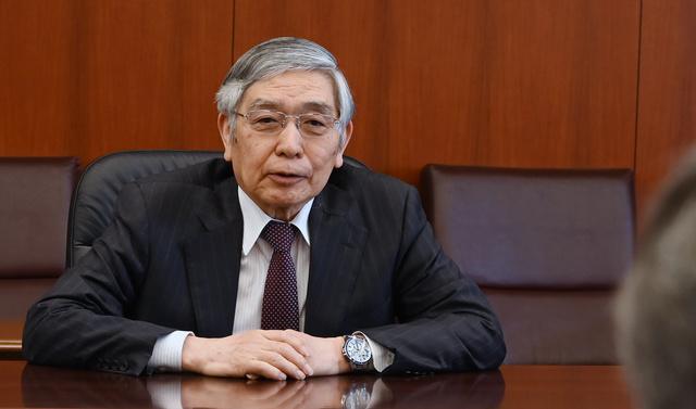 日本銀行総裁の黒田東彦氏=2021年3月26日、東京・日本橋、迫和義撮影