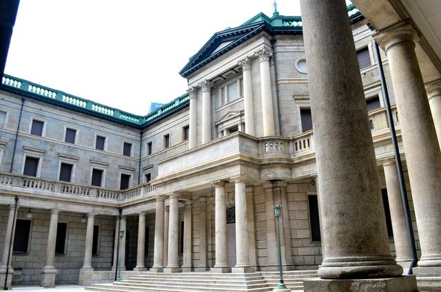 「デジタル円」は日本銀行のパワーを増強するだろうか=2019年9月撮影、東京・中央区の日本銀行本館