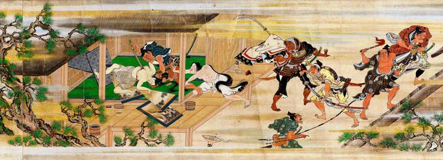 「山中常盤物語絵巻」=国重要文化財、MOA美術館蔵(部分)