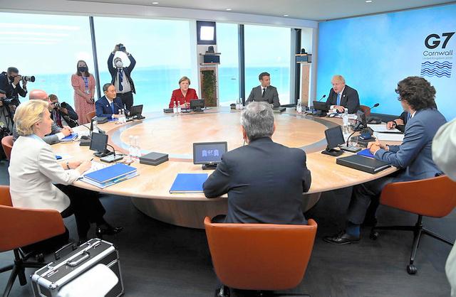 6月に英国のコーンウォールで開かれた主要7カ国首脳会議(G7サミット)=英政府提供