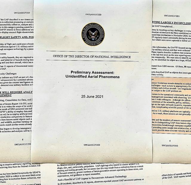 6月25日に公開された米政府の「未確認飛行物体(UFO)」の報告書