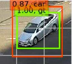 車両判別の実験の画像。防犯カメラの画像の中からAIが車両を検出し、写っている場面を切り出す=警察庁提供