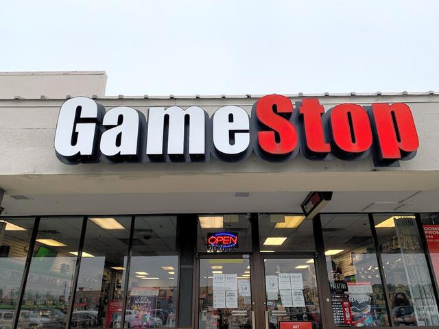 株価が乱高下したゲーム販売店「ゲームストップ」の店舗=2021年2月、米サウスカロライナ州、江渕崇撮影