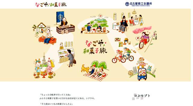 ウェブサイト「なごや和菓子旅」の一部