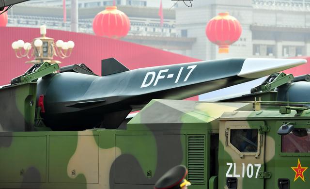 中国が2019年に公表した極超音速弾道ミサイル「DF17」