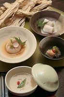 65)水口かんぴょう:森さんが考案した、かんぴょうを主役にした料理の数々=大津市の雄山荘、山本正樹撮影