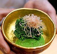 92)徳島の菜の花:福島「楽心」の菜の花のおひたし=大阪市福島区