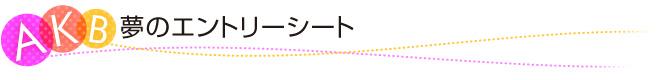 AKB48夢のエントリーシート