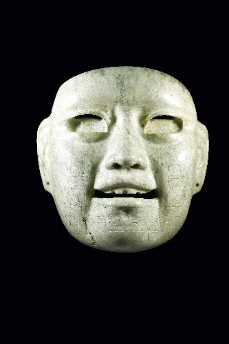 写真:ヒスイ製の仮面=CONACULTA、INAH蔵