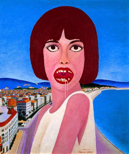 写真:1966年、キャンバスにアクリル絵の具、53センチ×45.5センチ、徳島県立近代美術館蔵