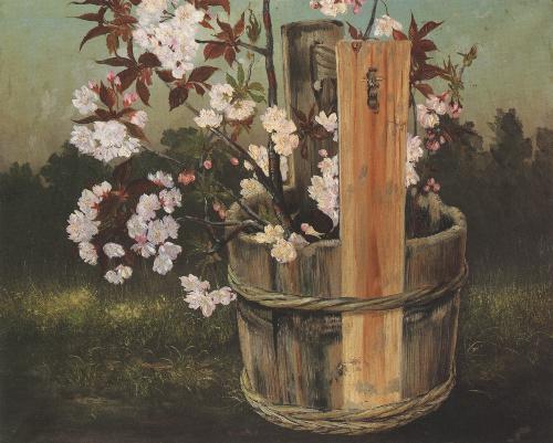写真:高橋由一「桜花図」(1879〜80年ごろ、金刀比羅宮蔵)