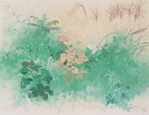 写真:田渕俊夫「叢叢讃歌」(1985年、箱根・芦ノ湖成川美術館蔵)