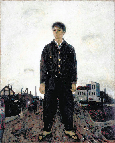 写真:松本竣介「立てる像」1942年 神奈川県立近代美術館蔵