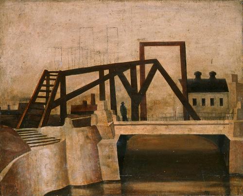 写真:松本竣介「Y市の橋」1944年ごろ 個人蔵