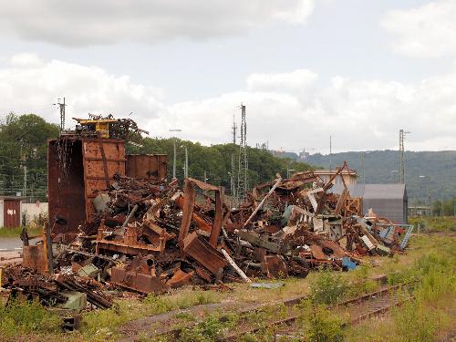 写真:廃棄物で構築したララ・ファバレット(イタリア)の展示