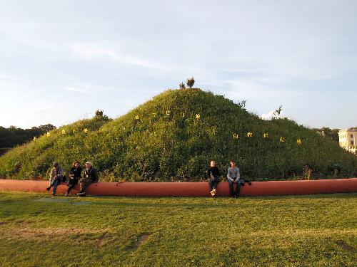 写真:巨大な盆栽を思わせる宋冬(中国)の作品