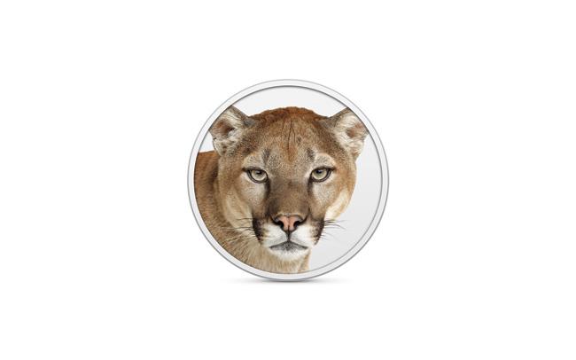 写真:画像1:OS X Mountain Lionのロゴ。今回はマウンテンライオン(ピューマ)が愛称となる(アップル提供。開発中のプレビューバージョン(英語版)の画像です。実際の製品とは異なる場合があります)