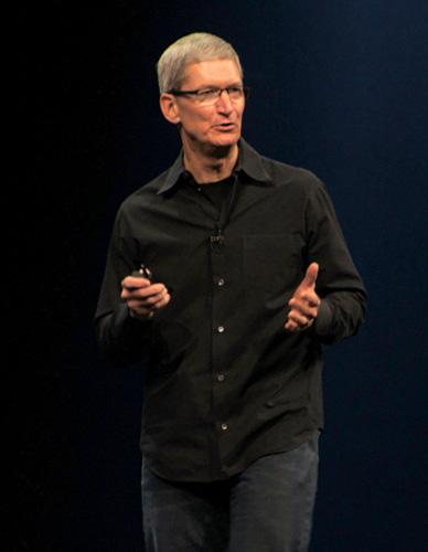 写真:画像2:米・アップルCEOのティム・クック氏。ディベロッパーに対してビジネスへの協力を呼びかけた(撮影:西田宗千佳)
