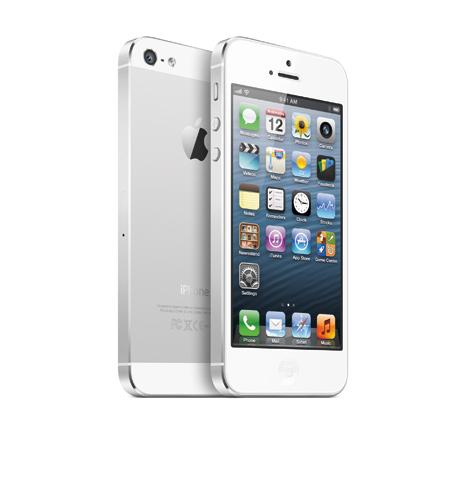 写真:iPhone5(アップル)。ソフトバンクとKDDI(au)より発売(提供:アップル)