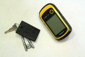 これが、その装置。横にあるのは家の鍵