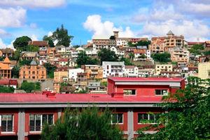 アンタナナリボ中心部からの眺め=いずれも7日、江木慎吾撮影