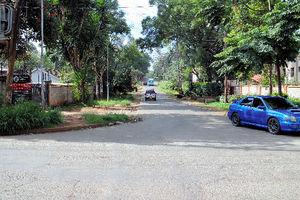 ナイロビに借りたアパートの周辺は静かな住宅地=ナイロビ、江木慎吾撮影