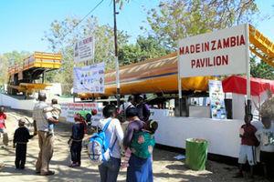 農業フェアにあったザンビア産バイオ燃料の展示