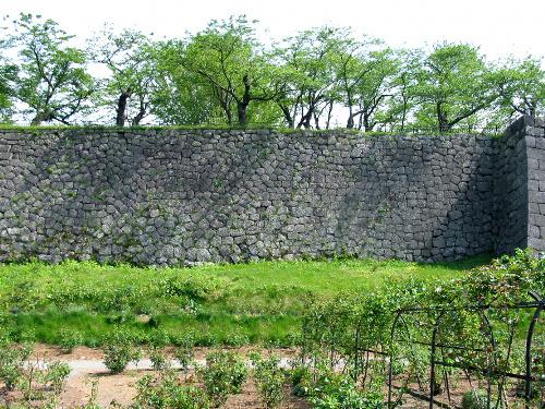 写真:国史跡・小峰城跡の本丸の石垣。崩落前の姿=福島県白河市教委提供