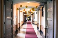 津田塾大学の象徴「ハーツホン・ホール」の館内も、津田塾祭仕様にかわいらしく装飾されました。