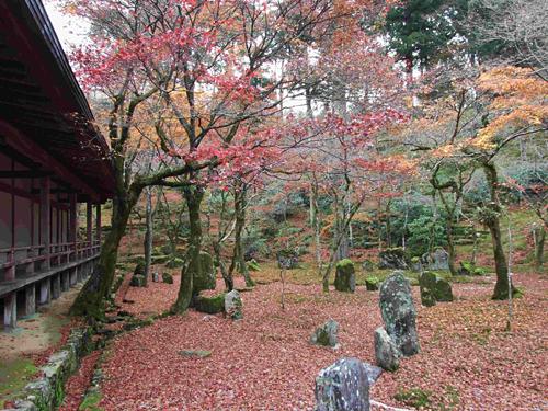 写真:光明禅寺:紅葉が美しい庭園=福岡県太宰府市の光明禅寺