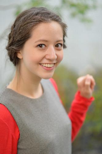 写真:タレントの春香クリスティーンさん=11月25日、東京都目黒区、瀬戸口翼撮影