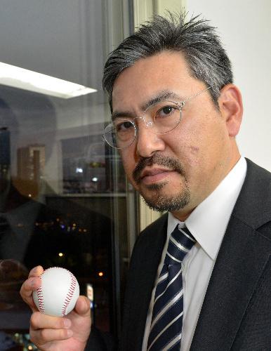 写真:小宮山悟さん:元プロ野球選手の小宮山悟さん。「努力は必ず報われます。がんばって下さい」=東京都港区、瀬戸口翼撮影