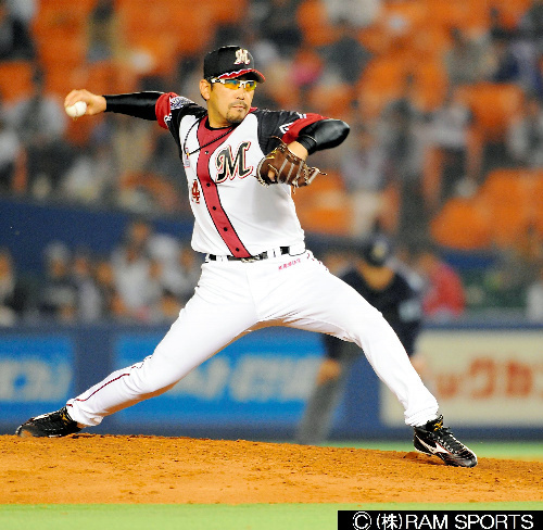 写真:小宮山悟さん:ロッテ時代の小宮山さん。ちみつな投球で「投げる精密機械」などと評された。通算成績は117勝144敗4セーブ=RAM SPORTS提供