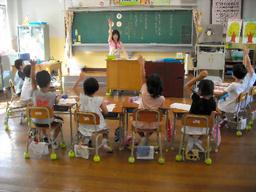 写真:市中心部にある大名小の1年生は8人だけだ=福岡市中央区