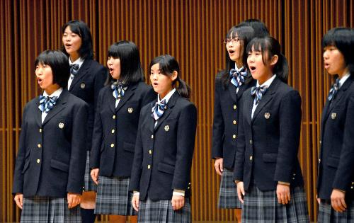 写真:高校部門Aで全国大会出場を決めた愛知=福井市の福井県立音楽堂