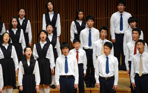 写真:高校部門Bで全国大会出場を決めた岡崎=福井市の福井県立音楽堂