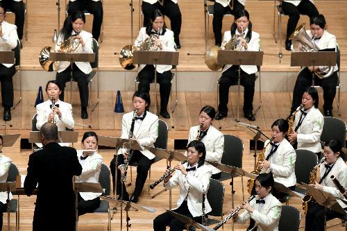写真:美しいハーモニーを響かせる金沢桜丘=1日、名古屋市熱田区の名古屋国際会議場、山口明夏撮影