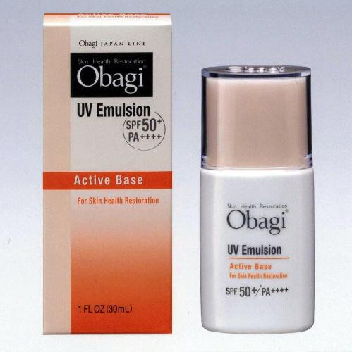 写真:ロート製薬が出した「オバジ」ブランドのUVカット乳液=同社提供