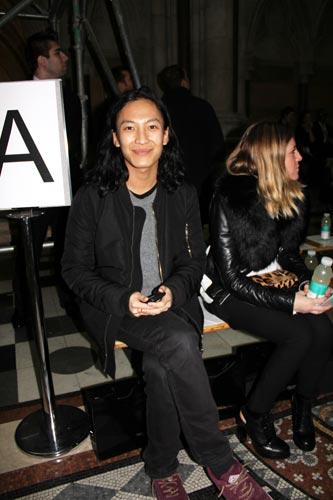 写真:ニューヨークから「ジャイルズ」のショーに駆けつけたデザイナー、アレキサンダー・ワン。