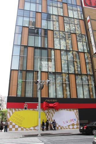 写真:銀座7丁目交差点にオープンする「シセイドウ・ザ・ギンザ」