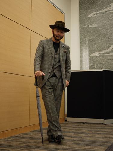 写真:PHENOMENONの会場で見かけたこの紳士はセレクトショップのバイヤーさん。