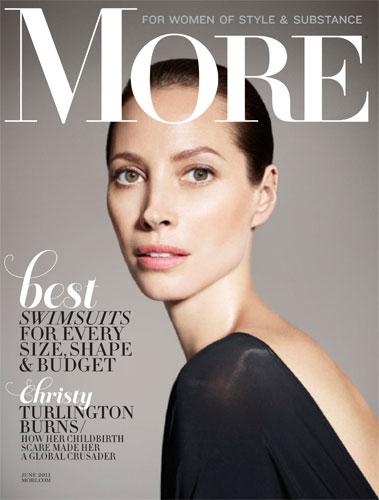 写真:「More」2011 June 撮影:Sofia & Mauro モデル:クリスティー・ターリントン 赤ちゃんみたいなフレッシュスキン?