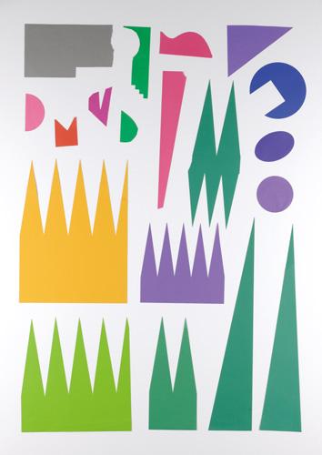 写真:グラフィックアートの素材、切り紙